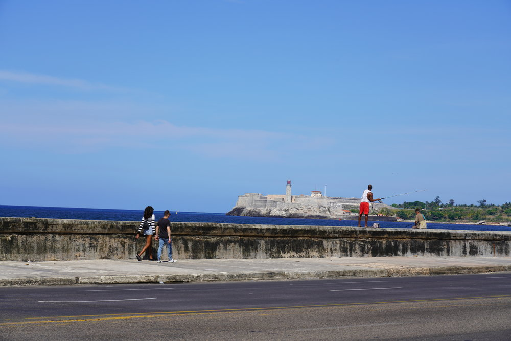 Havana Cuba Pescador cubano