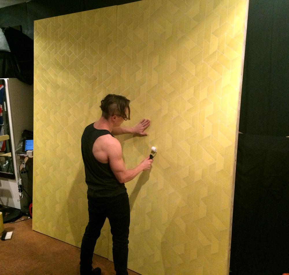 spot of wallpapering