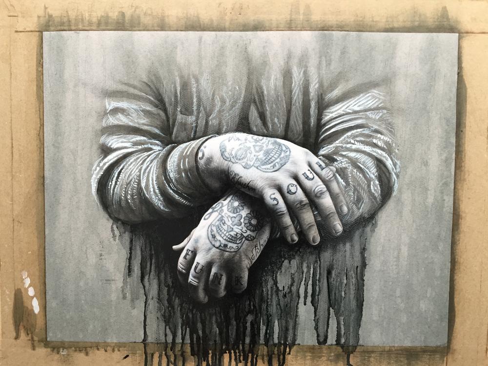 Rag'n'Bone Man 'Human' single artwork by Ben Ashton