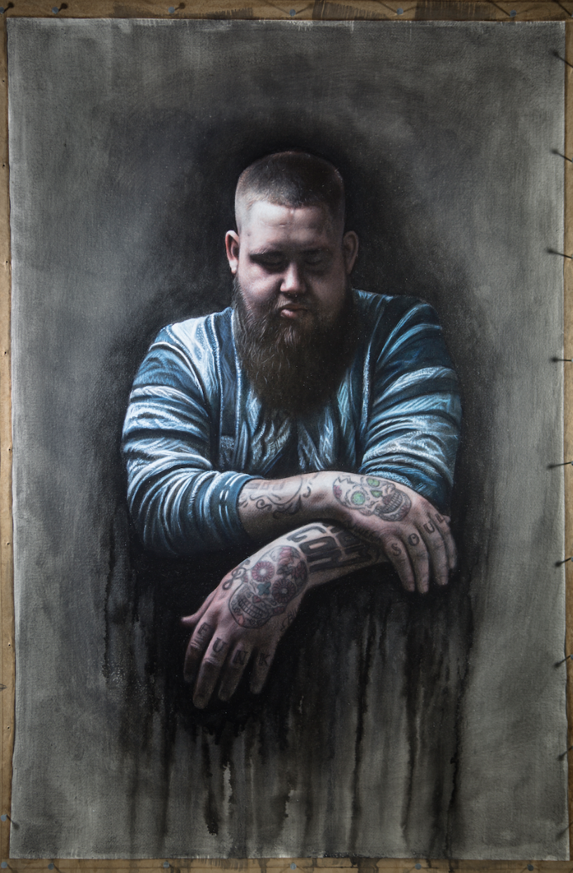 Original painting for Rag'n'Bone Man's 'Human' - more  here