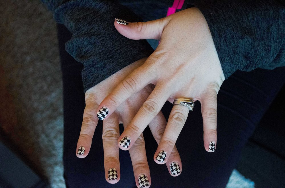 """Houndstooth"" design from Salon Effects"