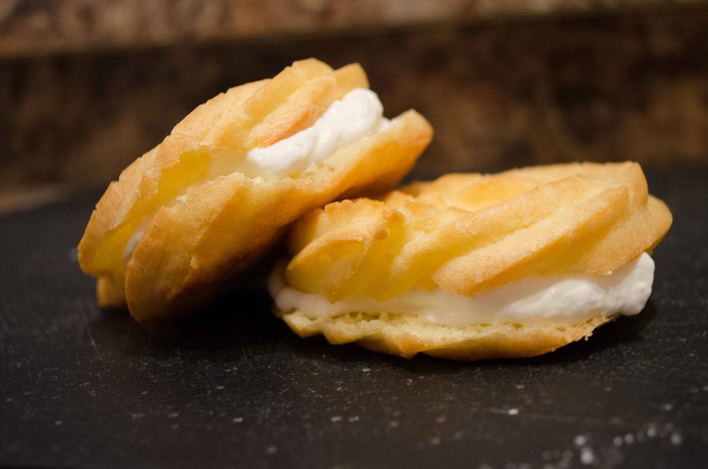 Lemon Cream Puffs  - from Tastes of Lizzy T