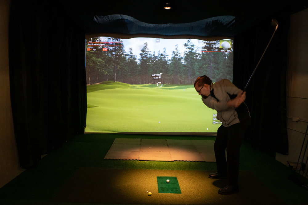 Just a little golf simulator to start the day. I, personally, am still confused why people like to chase tiny balls, however lots of people wonder why I like to fly in the air on a sling. So I guess we're even.
