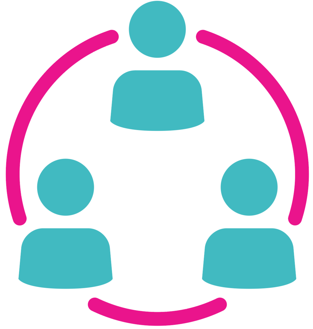 community icon with 3 people in a circle