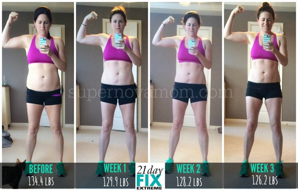 21 day fix results 4 images of weight loss