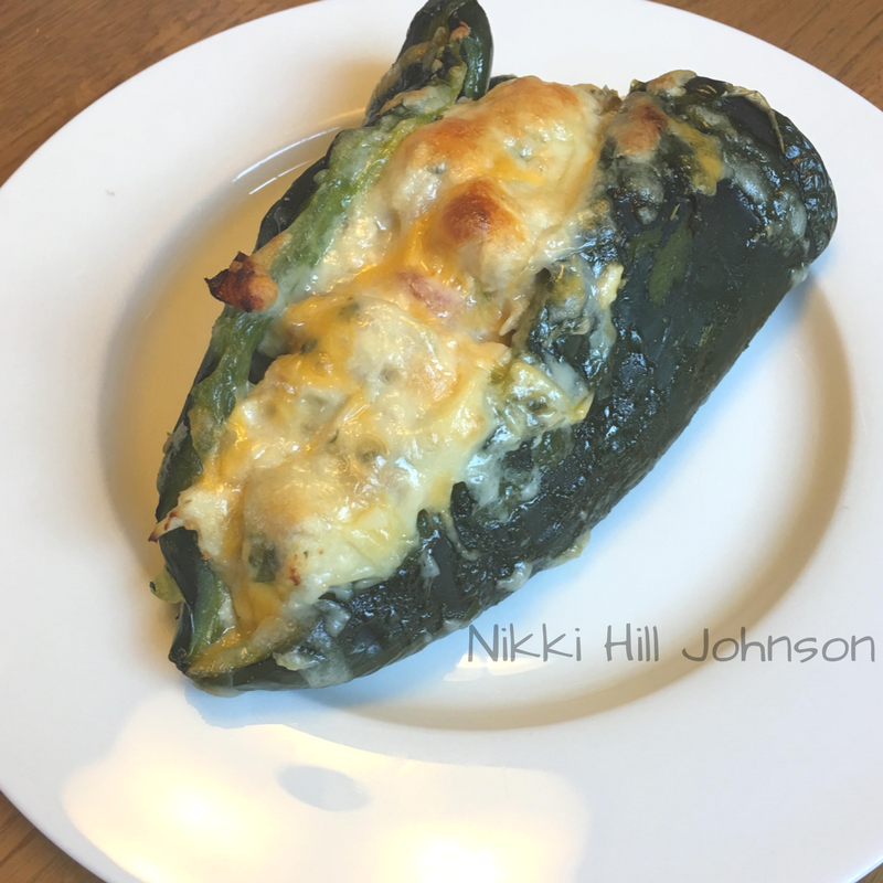 cheesy chicken stuffed poblanos