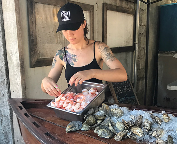 This young woman can shuck hundreds of oysters and little necks in an afternoon! If you're in Nantucket, visit her at Cisco Brewery, where she runs the raw bar with her cousin, Maya, on Wednesday, Thursday, and Friday afternoons.