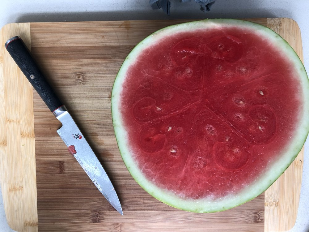 First step is a perfect watermelon!