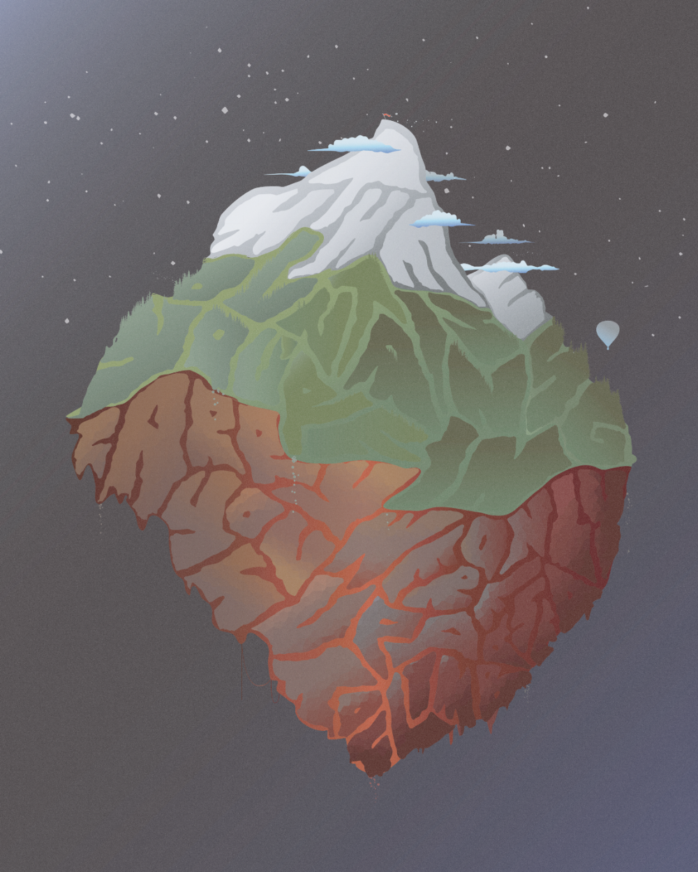 """'These Mountains' by TEKSTartist. Created by warping/twisting the words from the quote: """"These mountains you're carrying you were only supposed to climb"""""""