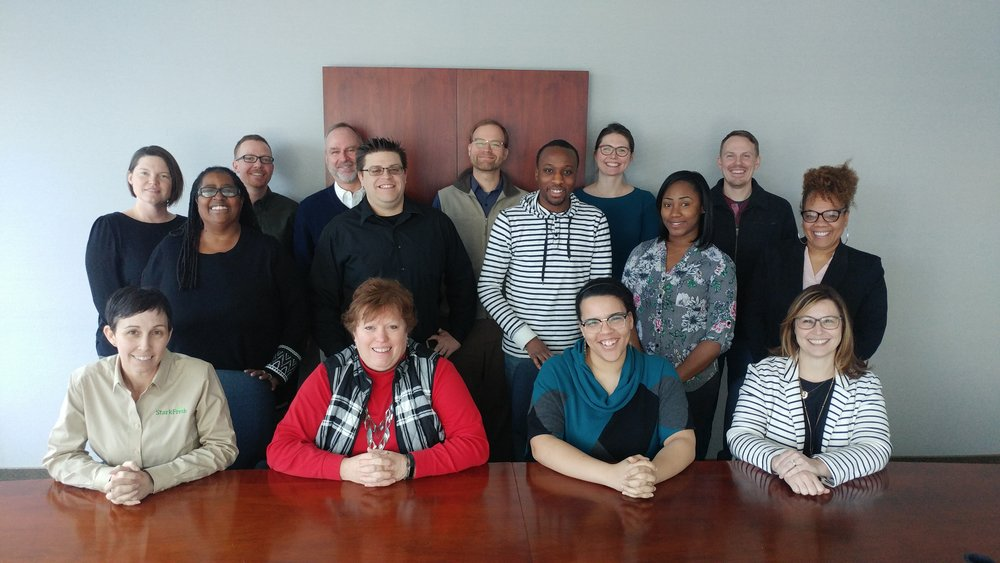 Group photo of participants at the Phase 3 Launch on February 26, 2019. The three participating OCDCA members are: LakewoodAlive in Lakewood, North End Community Improvement Collaborative in Mansfield, and StarkFresh in Canton.