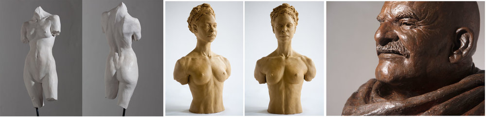 Classical Figurative Sculptures by Thomas Kuoh