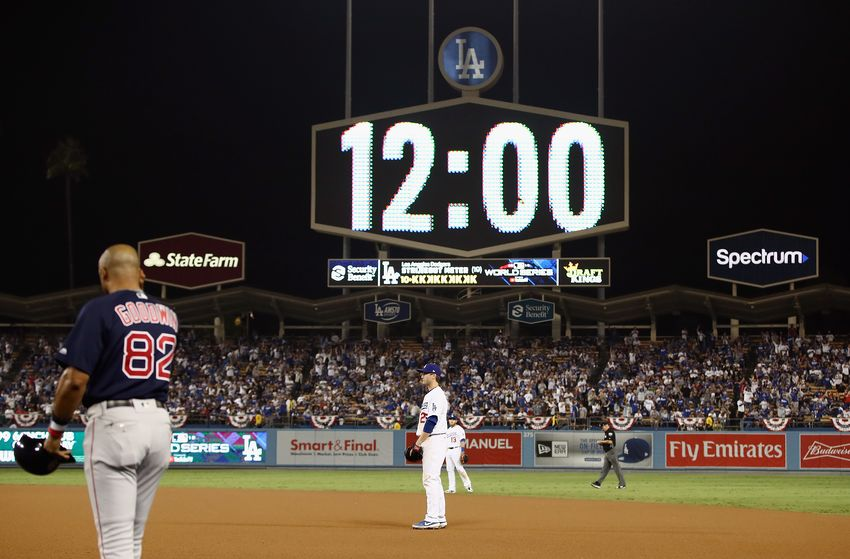 Don't be deceived by the scoreboard clock. It was 3am in Boston.