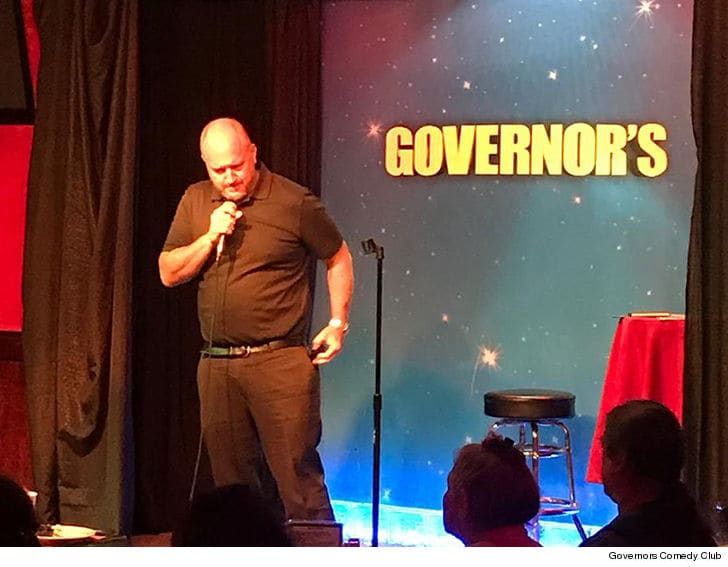 Louis C.K. on stage a Governor's. His set went well until people actually heard what he was saying.