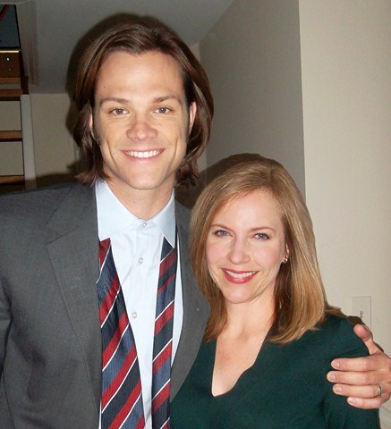 Jared Padalecki and Lini Evans on Supernatural.jpg