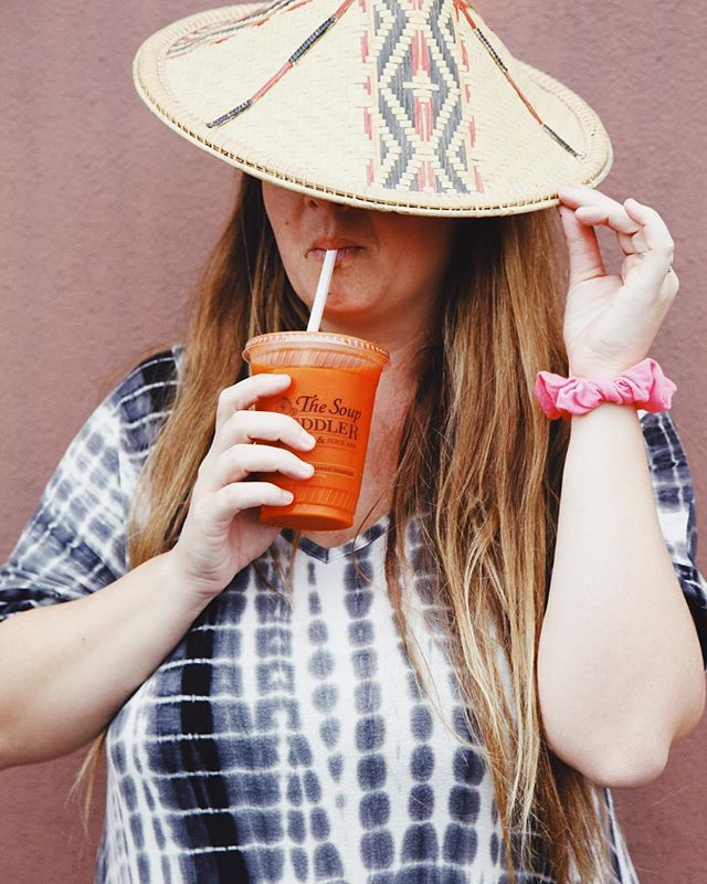 We've got the #soup, the #juice, and the #style.  Yes, that's a #scrunchie. 👍🏽
