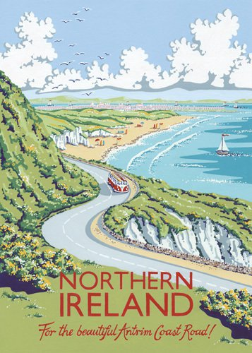 Northern Ireland vintage travel poster