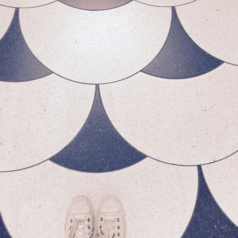 Art Deco floor tiles Converse Tate Britain London