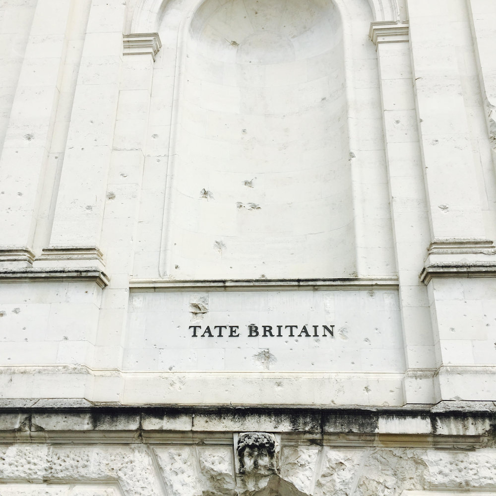 Tate Britain side entrance bullet holes