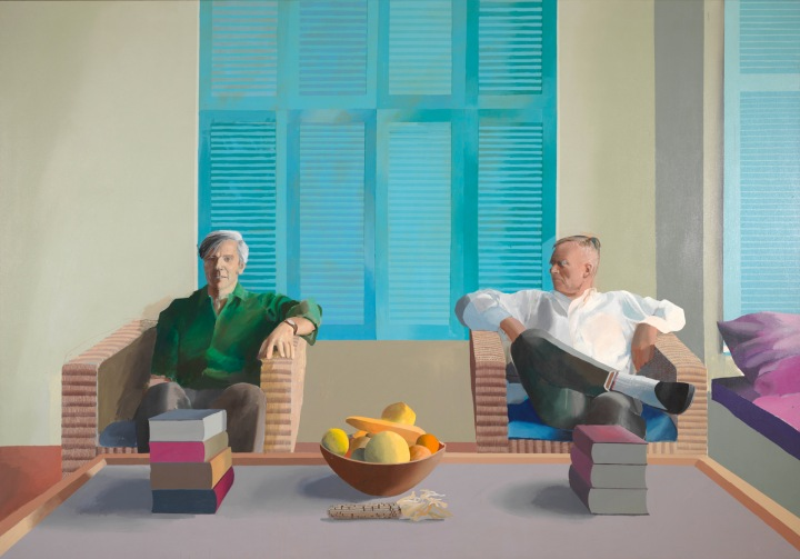 Christopher Isherwood  and Don Bachardy by David Hockney