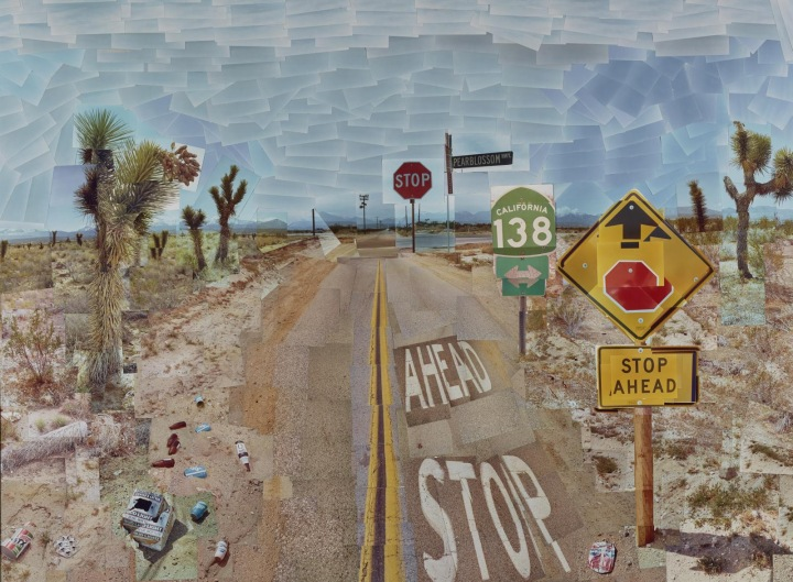 Pearblossom Hwy., 11-18 April 1986 by David Hockney
