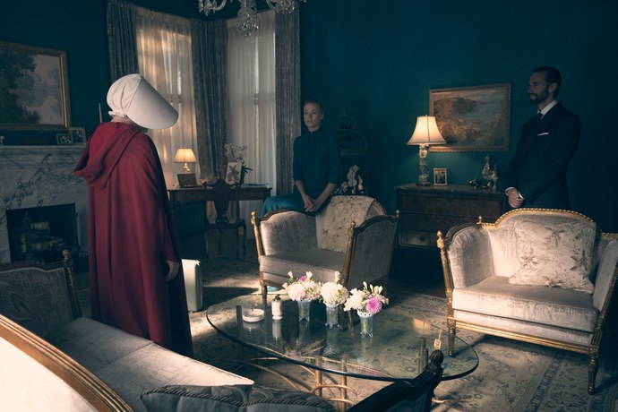 The Handmaid's Tale Teal Lounge with Characters