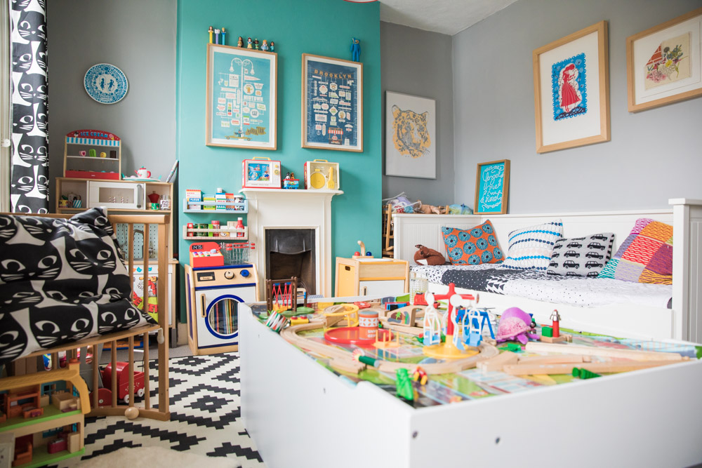 Colourful kids play room