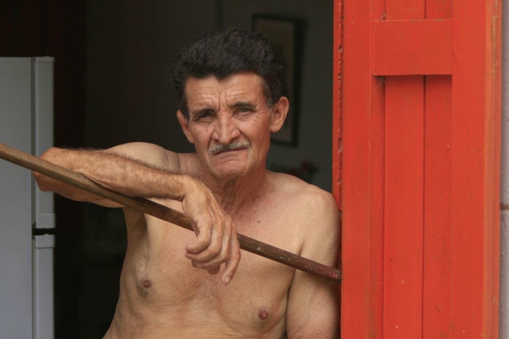 Man at La Terrazas, Cuba