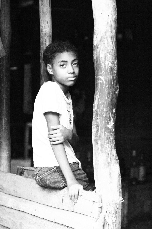 Young girl at La Terrazas, Cuba
