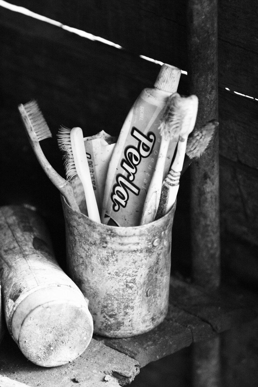 Toothpaste in the tin hut, La Terrazas, Cuba