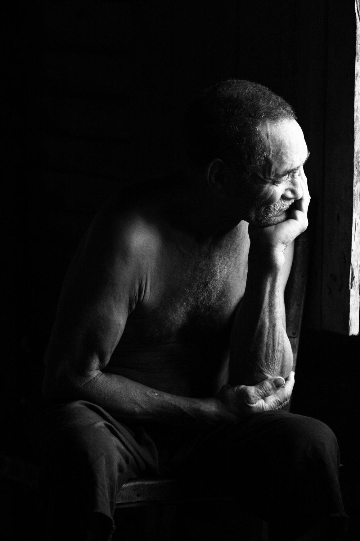 Man of the house in La Terrazas, Cuba