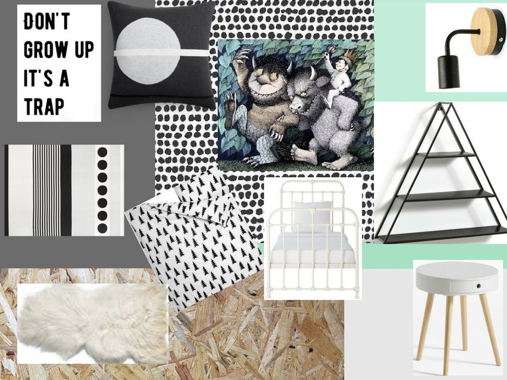 Moodboard for Jack's new bedroom