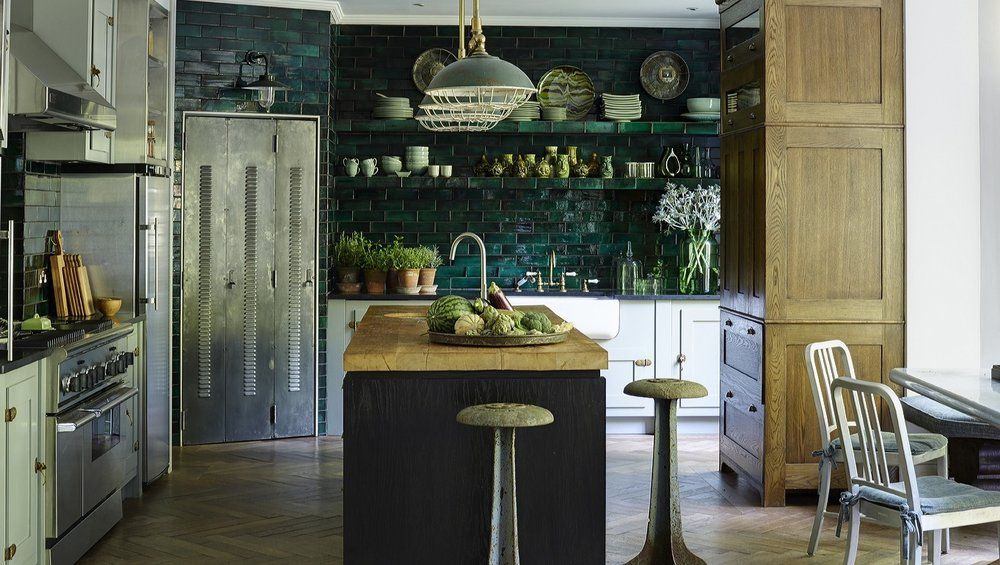 How outstandingly perfect is the materials and colour scheme in this kitchen from Hubert Zandberg's Holland Park project. Photo credit  here