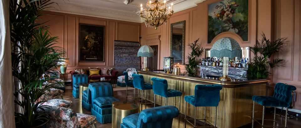 The Parrot Bar at Beaverbrooks Hotel in Surrey. The handiwork of Susie Atkinson. Image credit  here