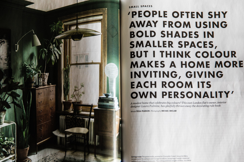 Great tips in Elle Decoration debunking the myth about dark colours in small spaces...