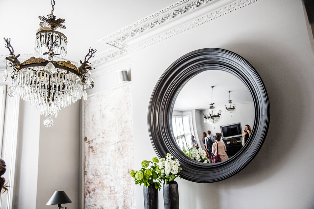Look at this coving! Mirror by  Abigail Ahern