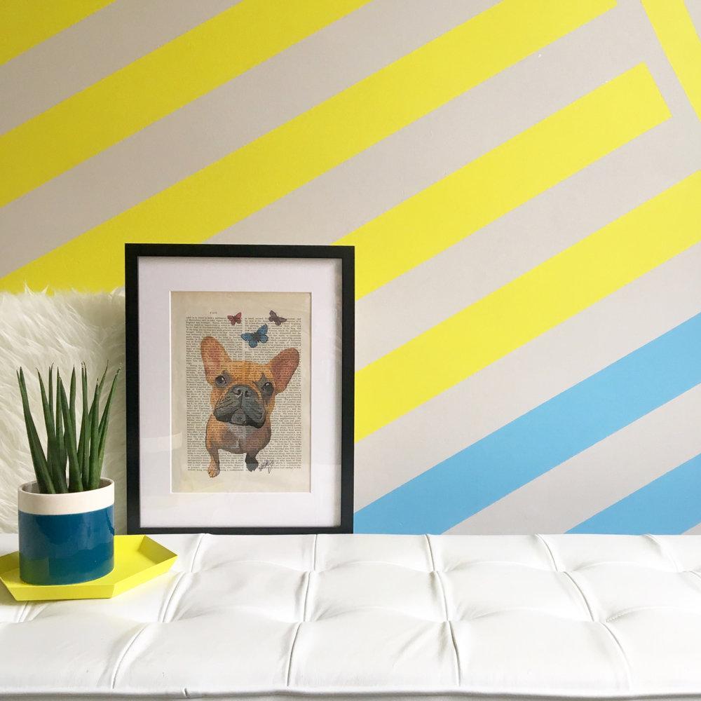 liznylon_kids_bedroom_abstract_yellow_stripes.jpg