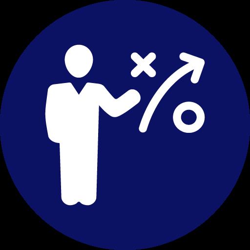 Icon of person presenting