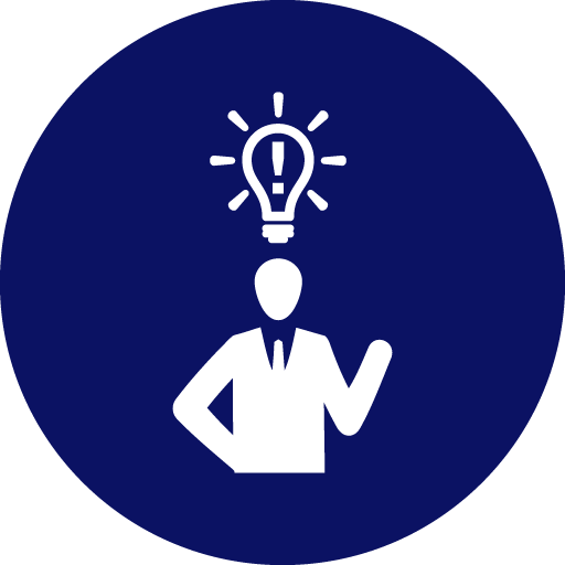 Icon of person with lightbulb over their head