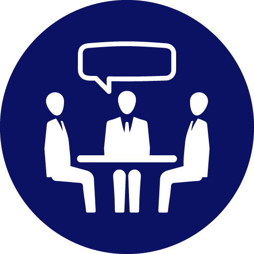 Icon of business meeting