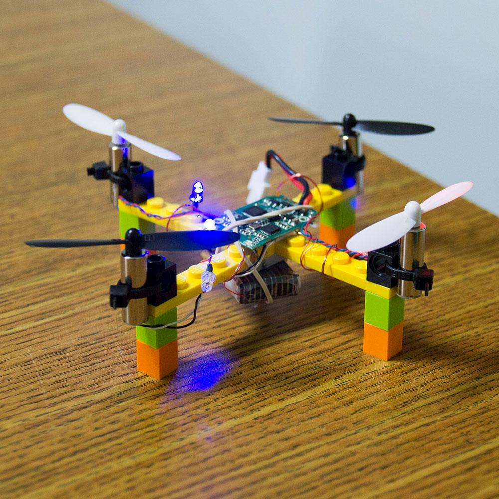 You can get a kit for this Lego drone from  kitables , but it won't bring you a defibrillator.