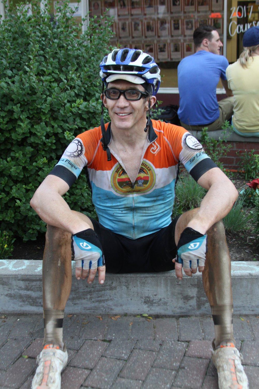 Enjoy sitting on something--anything--that isn't a bike seat.
