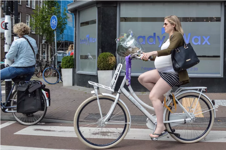 Building on all that  NZ pregnancy cycling  momentum from last week. (Pic: Modacity/Vox)