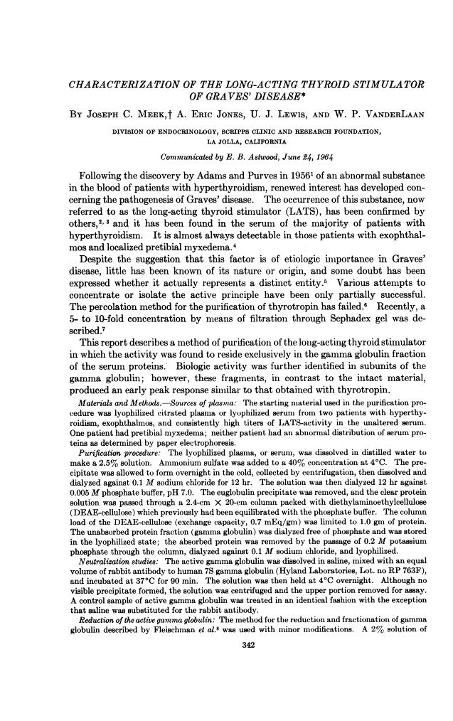 PNAS 1964 Aug; 52(2): 342–349.  PMID: 14206601