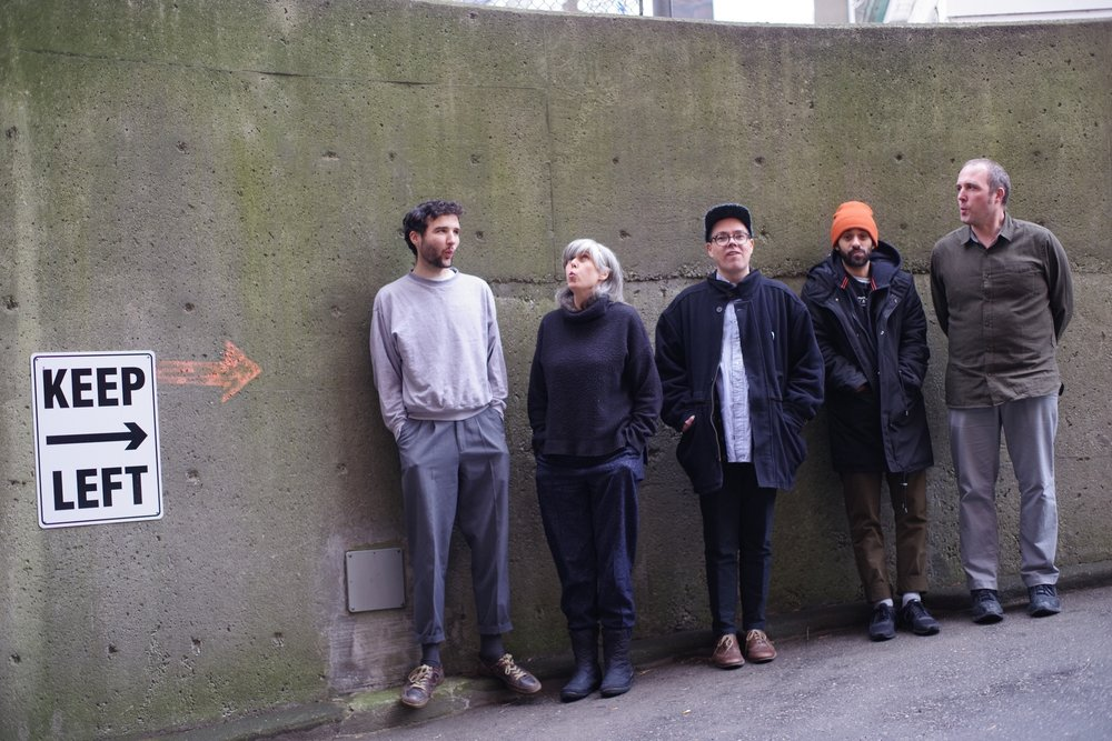 Photo: Martin Reis L-R Evan Cartwright drums, Tania Gill piano, Brodie West alto saxophone, Josh Cole bass, Nick Fraser drums