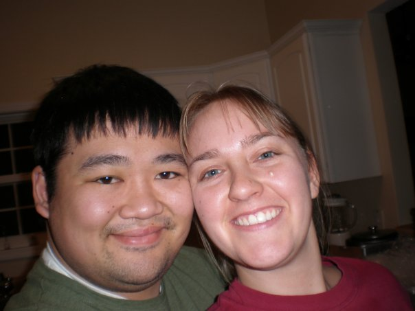 My husband and me, a day after the accident. We took this pic to prove to my worried mother that we were, indeed fine.