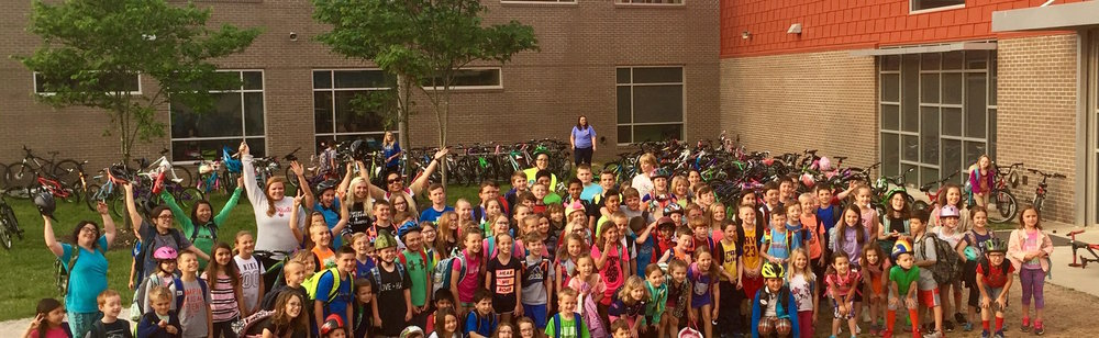 Bike To School Day at Janie Darr Elementary in Rogers