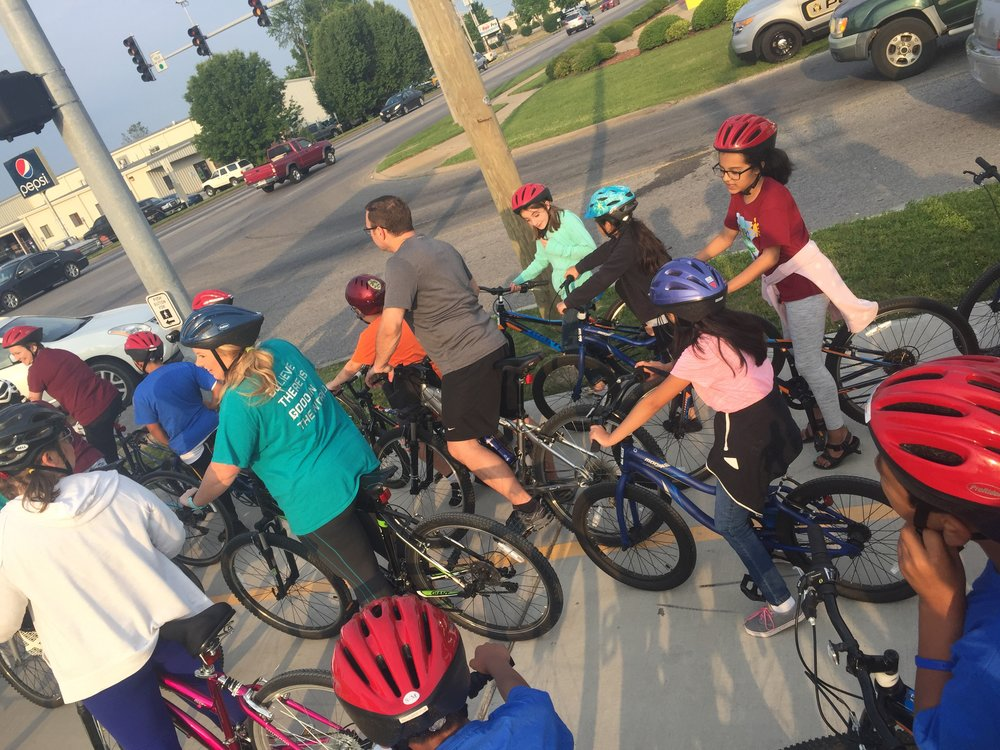 George Elementary School Bike Train in Springdale