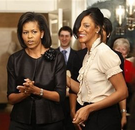 Sarah Jones and Michelle Obama