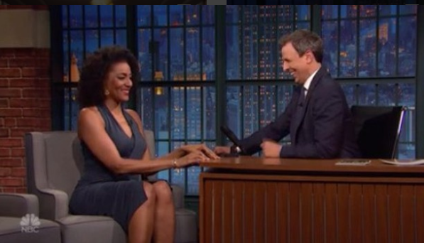 Sarah Jones on Late Night: Seth Meyers September 2016