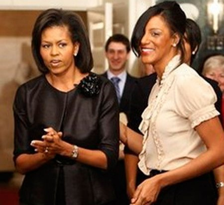 Sarah Jones & Michelle Obama at the White House.jpg